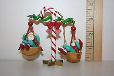 Christmas Charmers Ornament - The Nutty Seesaw - Elves - Walnuts - Candy Cane