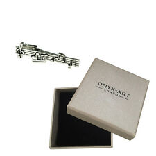 Music Note Musician Novelty Tie Bar In Deluxe Gift Box