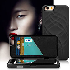1Pcs Beautiful Women Phone Bag Built-in Mirror Card Slots Case For iPhone 6