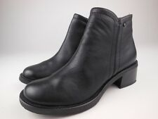 ROCKPORT Black Leather Zip Up Ankle Boots Sz 5
