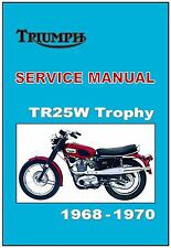 TRIUMPH Workshop Manual TR25W Trophy 1968 1969 and 1970 FACTORY Service & Repair