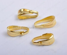 100Pcs gold plated Pendant Pinch Clip Bail Connector 6mm DIY Findings