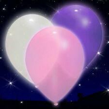 Purple, Pink & White LED iLLoom Balloons - 15 pack glowing light up balloons