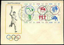 East Germany 1964 Olympic Games FDC First Day Cover #C35760