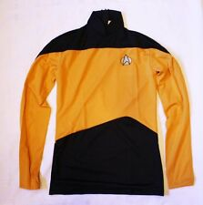 Star Trek Next Generation Gold Uniform Costume Adult Size Small  BRAND NEW