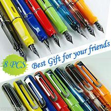 【8 PCS】Jinhao 599 Fountain Pens Diversity Set Transparent and Unique Style Color
