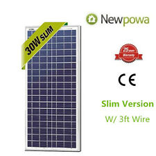 NewPowa High Effciency 30W 12V Solar Panel Poly Module Marine Trooling 30 Watts