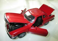 Mercedes W/R 107 Typ 300 420 500 SL in rot rouge rosso roja red, NZG in 1:35!