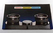 PENTAX BINOCULARS MONOCULARS FOLD OUT BROCHURE NICE CONDITION