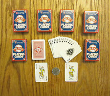 6 NEW DECKS OF MINI PLAYING CARDS MINITURE PLASTIC COATED TINY POKER CARD DECK