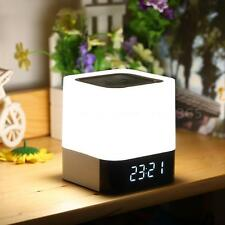 MUSKY DY Bluetooth Mini Stereo LED Speaker Clock Alarm TF AUX for iPhone Samsung
