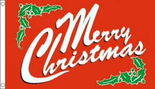 5' x 3' Red Merry Christmas Flag Xmas Banner Party Banner