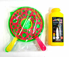 Double Giant Soap Bubble Maker Blower Wand Rings Tray Non-toxic Solution Set