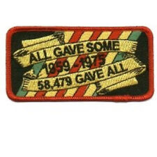 LOT OF 2 - ALL GAVE SOME - 58479 GAVE ALL VET MILITARY EMBROIDERED PATCH