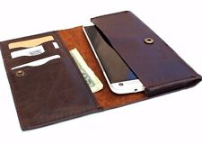 genuine natural leather case for apple iphone  7  6 6s book wallet slim cover