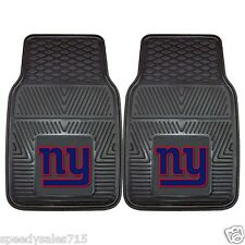 PAIR FANMATS NFL New York Giants Front Heavy Duty Car Mats New Free Ship