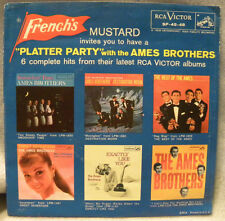 AMES BROTHERS  PLATTER PARTY Vintage 45 RCA VICTOR SP45-48  French's Mustard VGC