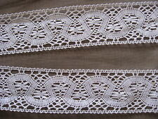 9 1/2 YDS LOVELY WHITE SWISS COTTON CLUNY LACE TRIM.