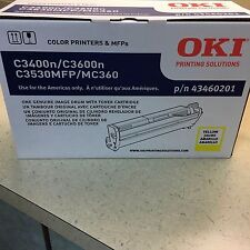 Genuine OKI Okidata C3400N C3600N C3530MFP Yellow Image Drum with Toner 43460201
