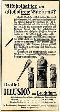 Dralle's Illusion im Leuchtturm PARFÜM Historische Annonce 1913