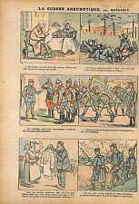 Caricature Guerre Poilus Soldiers Chevau-Légers Deutsches WWI 1915 ILLUSTRATION