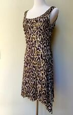 NWT Joseph Ribkoff Gold Flecked Cocktail Sleeveless Dress  Multi-Layer Sz 6 NWT