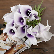 Calla Bridal Wedding Bouquet 10/20 Latex Real Feeling Flower Bouquets Home Decor