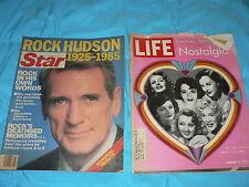 Antique Vintage Life / Star Magazine Rock Hudson 1985 / 1971 Woman Movie Stars