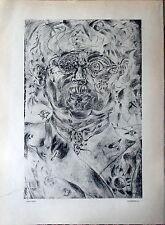 Joan MIRO Autoportrait - Héliogravure extraite de VERVE n° 5/6 de 1936