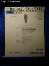 Sony Service Manual ICD SX20 /SX30 /SX40 IC Recorder (#5426)