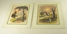 "2 Color Prints by Artist A. Bruno, 11""x13"" ~ ""Duck Haven"" & ""The Chopping Block"""