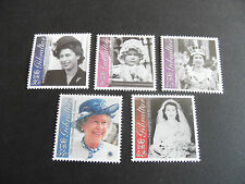 GIBRALTAR 2001 SG 972-976 75th BIRTHDAY OF QUEEN MNH
