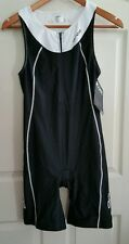 Nwt Women's Black & White ORCA core equip TRIATHLON SUIT w zip front, Size 14 L