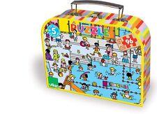 Vilac valise, puzzle 96 pièces en bois : à la piscine - Jigsaw puzzle