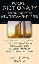 Pocket Dictionary for the Study of New Testament Greek IVP Pocket Reference)