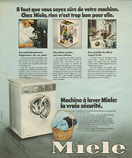 Publicité 1975  MIELE  lave linge  machine à laver