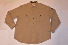 EDDIE BAUER SPORT SHOP WARM FLANNEL COTTON SHIRT! LONG SLEEVE! SNAPS! POCKETS XL