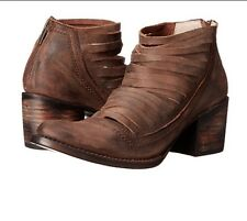 Freebird By Steven Sabra Booties Brown Distressed Leather Size 9