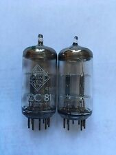 Matched Pair Telefunken 12AT7 ECC81 Tubes
