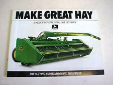 John Deere Hay Cutting & Windrowing Equipment Brochure                      b4