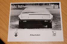 Maserati Khamsin Large Press Photograph