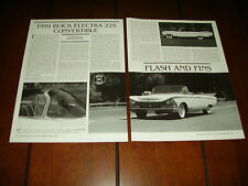 1959 BUICK ELECTRA 225 CONVERTIBLE  ***ORIGINAL 1991 ARTICLE / SPECIFICATIONS***