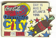 1996 ATLANTA OLYMPIC COCA COLA DAY PIN 16 FOR BOTTLE PUZZLE SET OLYMPIC CITY