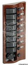 Osculati Mahogany Coated Electric Control Panel with 8 Flush Rocker Switches