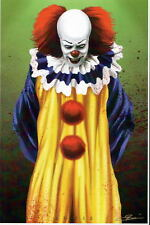 PENNYWISE The Dancing Clown Print HAND SIGNED by Artist Damon Bowie w COA