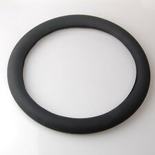 Leather Texture Soft Silicone Auto Car Steering Wheel Cover Shell Black