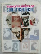Today's Ladies Country Music 39 Songs Voice Piano Guitar Variety