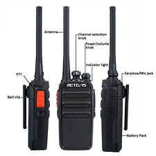 Retevis RT24 Walkie Talkie 0.5/2W PMR446 2-Way Radio UHF VOX Scan Scrambler 16CH