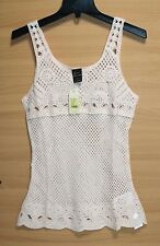 Color Siete - M - NWT - Pale Pink Cotton Sleeveless Quality Crochet Tank Sweater