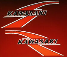 KAWASAKI KV75 MONKEY BIKE PETROL TANK DECALS 2 1976 RED